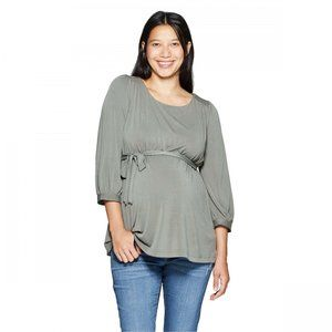 NWT Isabel Maternity Sandwashed Top Small Green